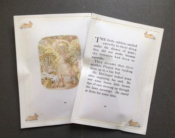 10 Beatrix Potter Reclaimed Paper Party Pouches