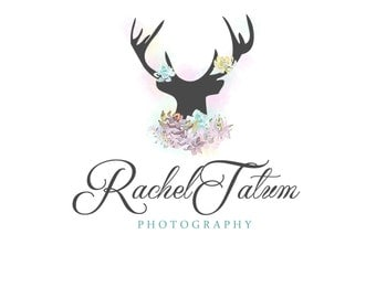 "INSTANT DOWNLOAD Custom Premade Photography Logo and Watermark ""Deer"" - Fully Custom Font and Color"