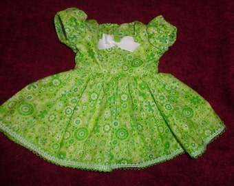 Lime Green Dress to fit American Girl Doll or any 18 inch doll