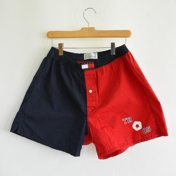 tommy hilfiger boxer shorts red blue color block tommy patch. Black Bedroom Furniture Sets. Home Design Ideas