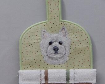 West Highland Terrier, Westie, Kitchen Towel Topper