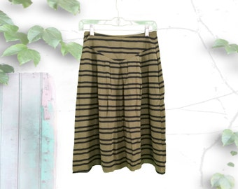 Hight Waisted Striped 90's A-Line Skirt