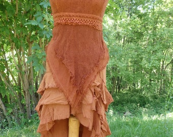 Orange Combo-fairy-princess-Burning man-fetival-original-natural-vegan-hippy