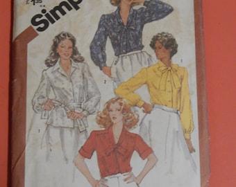 Simplicity 5387 Half size blouse pattern Uncut Size 18.5