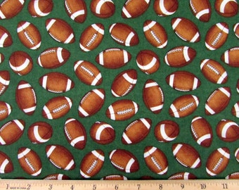 The Whole 9 Yards Football Fabric From RJR By the Yard
