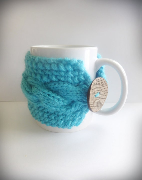 Knit Cup Knit Coffee Cozy Cup WarmerCoffee by CrazyButterflies