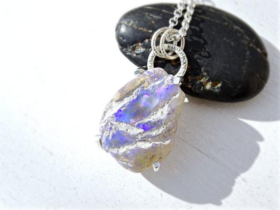 opal pendant australian opal lightning