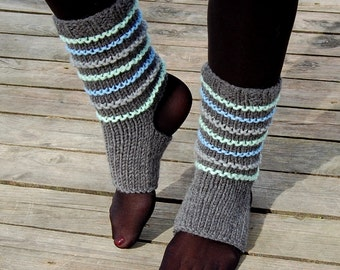 Hand Knit Yoga Socks,  Dance Socks,Toe-less Socks,  Knitted Spats,  Flip Flop Socks, Piyo Socks, Yoga Wear, Pedicure socks, Christmas Gift