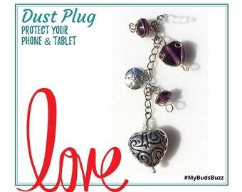 Dust Plug, Anti Dust, No Dust, Headphone, Valentines Day, Valentines Day Gift