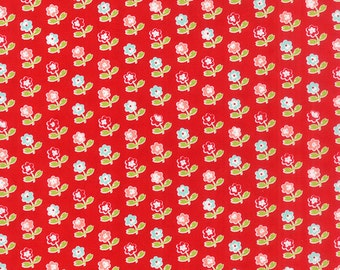 SALE!! 1/2 Yard - Vintage Picnic-Bonnie and Camille -Red- Moda - Fabric Yardage - 55121-11