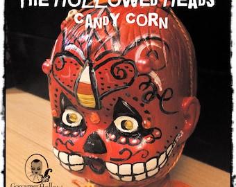 Candy Corn-One of a Kind Goth Horror Art doll Halloween Pumpkin bottle Doll