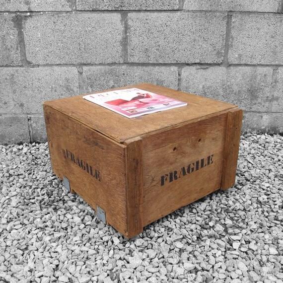 Fragile Crate Box - Coffee Table Magazine Storage
