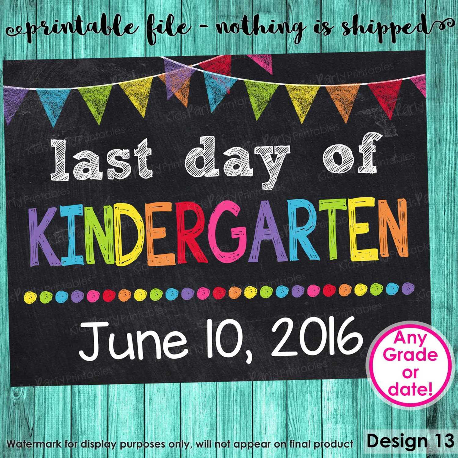 It is a photo of Delicate Last Day of Preschool Printable