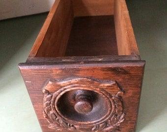 Vintage Singer Treadle Sewing Machine Drawer center piece mail holder storage box jewelry box wine bottle holder