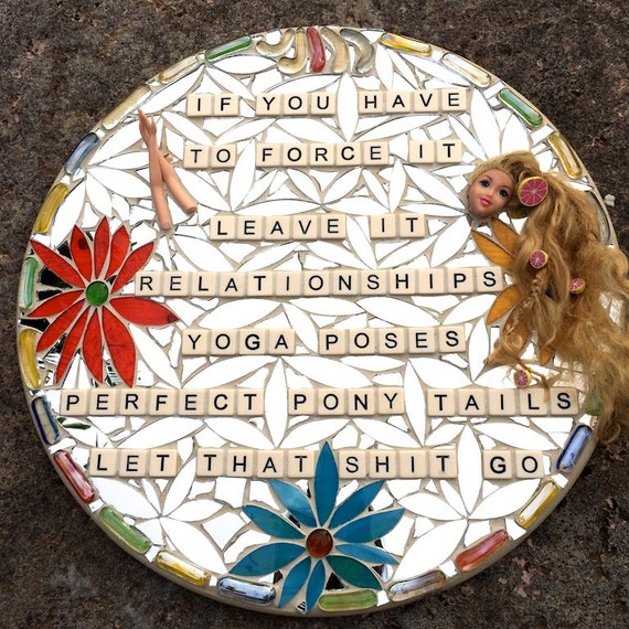 Stained Glass Inspirational Mosaic Art with a Message Mixed Media Made in Hawaii Deesigns by Harris©