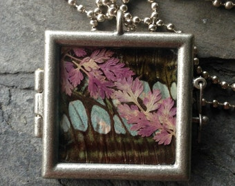 Butterfly and Botanicals Pendant