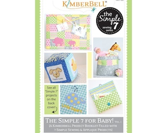 Kimberbell Simple 7 for Baby Sewing Pattern - Sewing Book - Baby Pattern - Baby Accessories - Blanket Blocks Quilt Burp Cloth Diaper Clutch