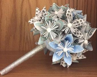 Paper Flower Bouquet (Origami Kusudama Flower)