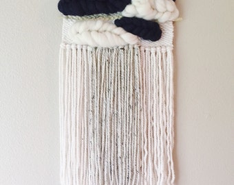 Navy Blue Woven Wall Hanging