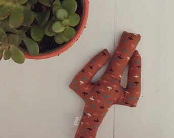 Ready to ship // Burnt Orange Saguaro Plushie, Cuddly Cactus, Desert Toy, Baby Toy, Fabric Doll, Southwest