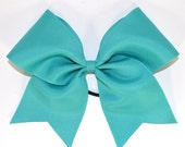 Large Cheer Bow in Blue Lagoon ***Ready to Ship***