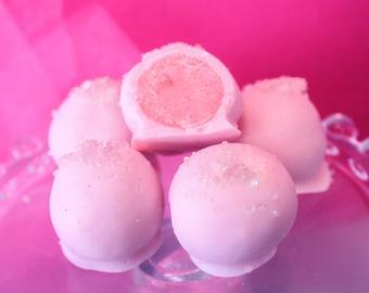 Pink Lemonade Cake Bites - Pink Lemonade Cake Balls