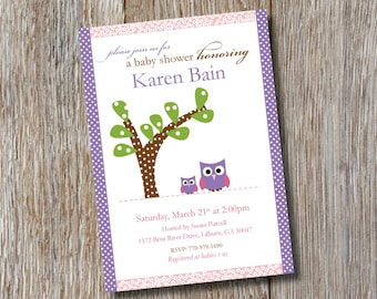 Printable | Adorable Owls Baby Shower Invitation