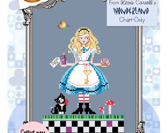 Brooke's Books Wonderland Alice Cross Stitch Chart-Only (Instant Download)
