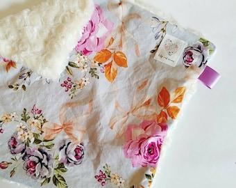 Mini Lovey Blanket in Spring Bouquet