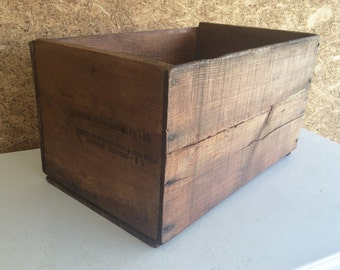 Produce Crate - Rustic Wood Produce Crate with Polyurethane Finish - Large Wooden Crate - Wood Box - Storage Box - Farm Decor -