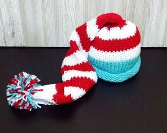 baby boy knit hat, baby girl hat - crochet baby hat - newborn crochet outfit - Stocking Hat -
