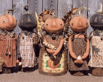 Primitive PATTERN Sweet Canned Pumpkin Girls