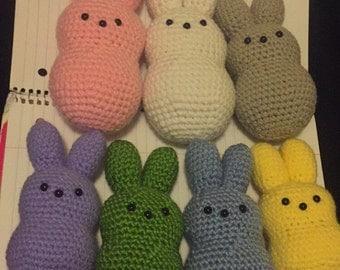 Amigurumi Crocheted Peeps Bunny