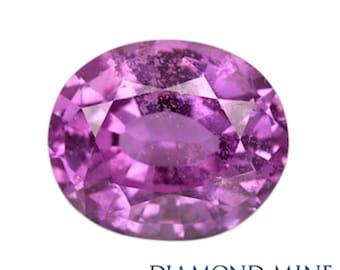 A Beautiful NaturalSapphire 1.35 Purple Oval A