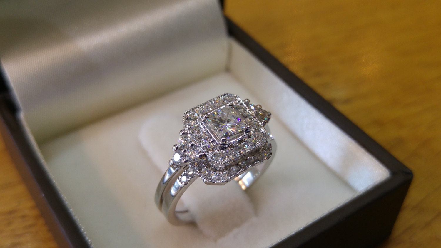 wedding diamonds d color il carat gold moissanite one ring fullxfull cut white vvs set and p forever diamond princess