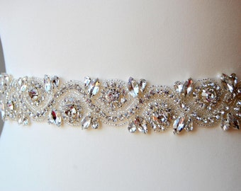 Bridal Belt Sash Rhinestone Belt Sash Flower Girl Bridesmaid Gift Sash belt Crystal Dress Sash Belt