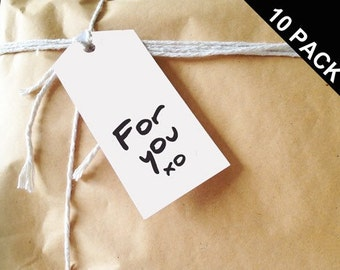 For you xo. Gift Tags. Pack of 10.