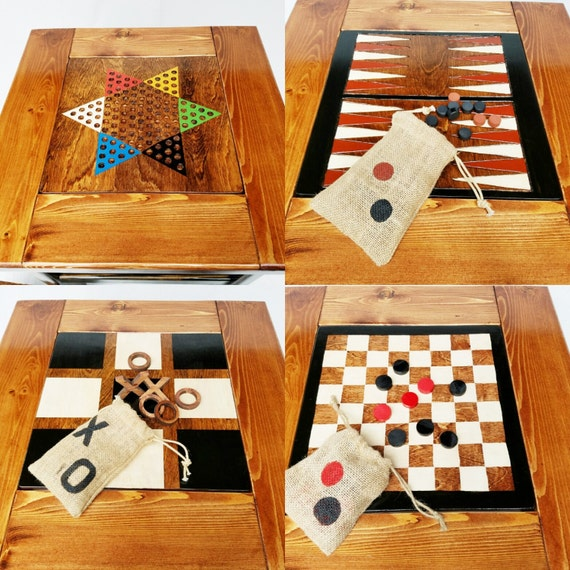 game table wood board games backgammon    checkers    chinese