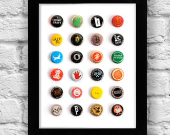 """Craft Beers of the World (11"""" x 8 1/2"""" print)"""