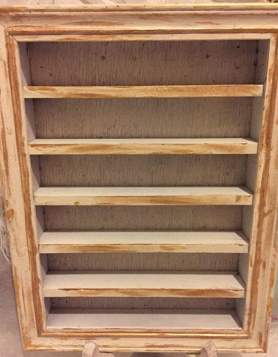 Vintage Reclaimed Wall Mountable Boxed Display Shelf Thimble