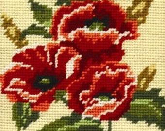 Poppy Bouquet needlepoint tapestry kit (Anchor)
