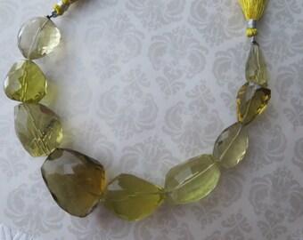 Lemon Quartz Pendant Bead, Focal Bead, LUXE Free Form Designer Quartz, Nugget Beads, Per Bead OR Rest of the Strand Pricing Available