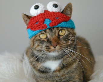 Cat Hat Crab Pet Hat Made to Order