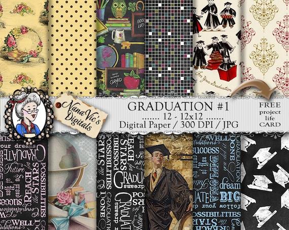Graduation Digital Paper Chalkboard Design Background