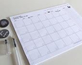 Large Desk Notepad My Never Ending Monthly Things to do - Planner Pad - Undated Planner - Illustrated A3
