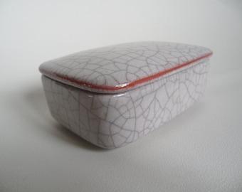 BYK german ceramic jar with lid,Majolika Karlsruhe ceramic,german pottery,rare ceramic box,box with lid,craquele ceramic