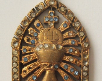 Antique Religious Medal Chalice