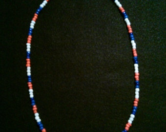 handcrafted 21&1/2in glass beaded necklace