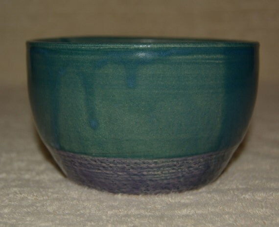 Bowl, Pet Bowl, Cereal Bowl, Ice Cream Bowl, Peacock Blue, Purple, Stoneware, Kitchen, Ceramic