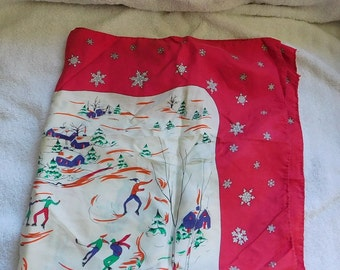 Vintage Winter/ Christmas Scarf